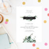 Natural Chic Green Modern Botanical Engagement Invitations Australia Sydney Melbourne Perth Canberra Brisbane United States New York Los Angeles California New Zealand Auckland Sail and Swan