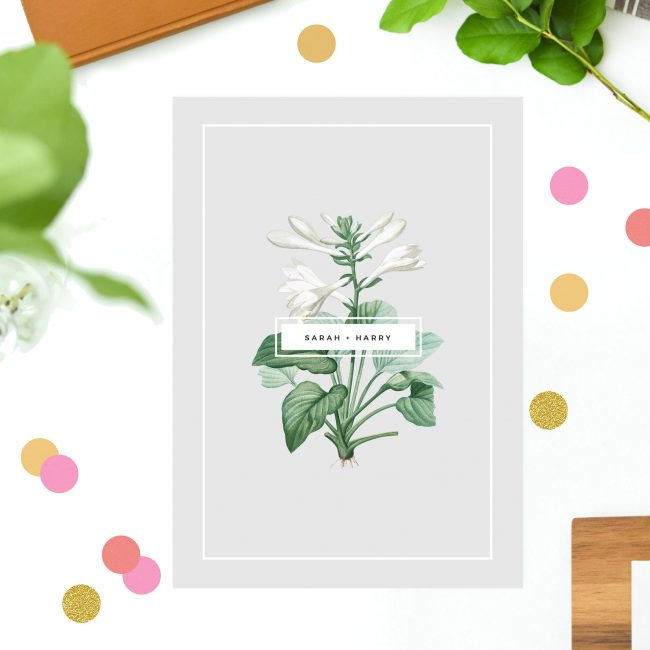 Elegant Botanical Grey White Green Engagement Invitations Australia Sydney Perth Melbourne Brisbane Canberra United States New York Los Angeles California New Zealand Auckland Sail and Swan
