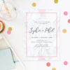 Marble Rose Gold Floral Engagement Invitations geometric Hydrangeas Engagement Invites Australia Sydney Perth melbourne Canberra Brisbane United States New York California Los Angeles New Zealand Auckland Sail and Swan