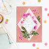 Floral Marble Rose Gold Engagement Invitations Australia Sydney Perth Canberra Melbourne Brisbane United States New York Los Angeles California New Zealand Auckland Engagement Invites Sail and Swan