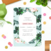 Floral Rose Mint Green Pastel Engagement Invitations Australia Sydney Perth Canberra Melbourne United States New York Los Angeles California New Zealand Auckland Sail and Swan Engagement Invitations