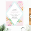 Modern Pastel Pink Blue Green Geometric Engagement Invitations Australia Sydney Perth Canberra Melbourne United States New York Los Angeles California New Zealand Auckland Sail and Swan Engagement Invitations