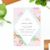 Modern Pastel Pink Blue Green Geometric Wedding Invitations Australia perth melbourne sydney united states us new york new zealand sail and swan
