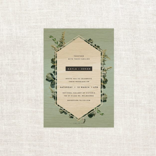 Natural Modern Outdoor Wedding Invitations Wood Wooden Invitations Australia Sydney Perth Melbourne Canberra Natural Wooden Wedding Invites New York United States Los Angeles California Auckland New Zealand Sail and Swan