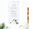 Marble Green Leaves Modern Botanical Engagement Invitations Australia Sydney Perth Melbourne Canberra Brisbane United States New York New Zeland Los Angeles California UK Engagement Invites Sail and Swan
