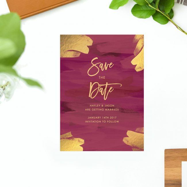 Gold Burgundy Save the Dates Plum and Gold Australia Adelaide Sydney Perth Melbourne Canberra brisbane elegant gold crimson save the dates london uk united states new york sail and swan