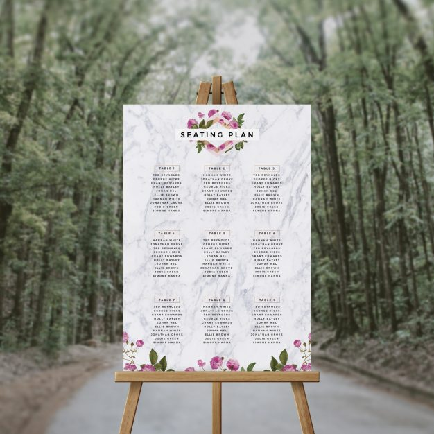 Marble Floral Seating Plan Pink Rose Seating Chart Australia Adelaide Sydney Perth melbourne brisbane canberra elegant rose floral wedding seating sign