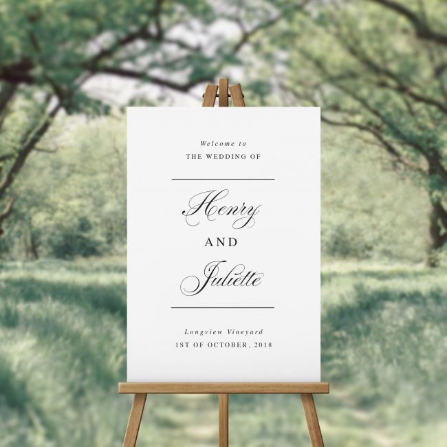 Simple Elegant Calligraphy Wedding Welcome Sign Australia Brisbane Canberra Adelaide Sydney Perth Melbourne White Wedding Sign Sail and Swan