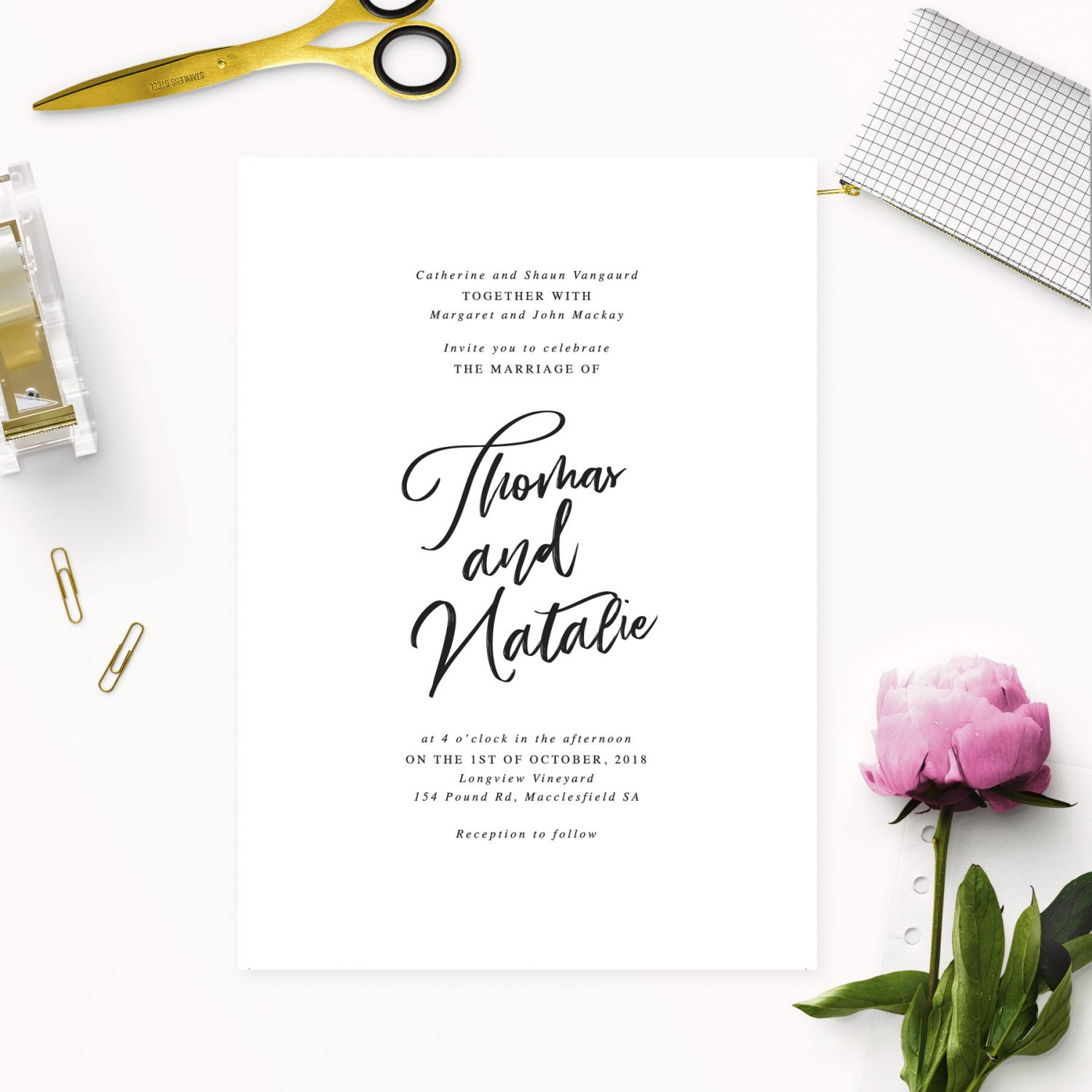 simple elegant writing wedding invitations elegant calligraphy