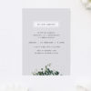 Elegant Floral Botanical Grey Bridal Shower Invitations