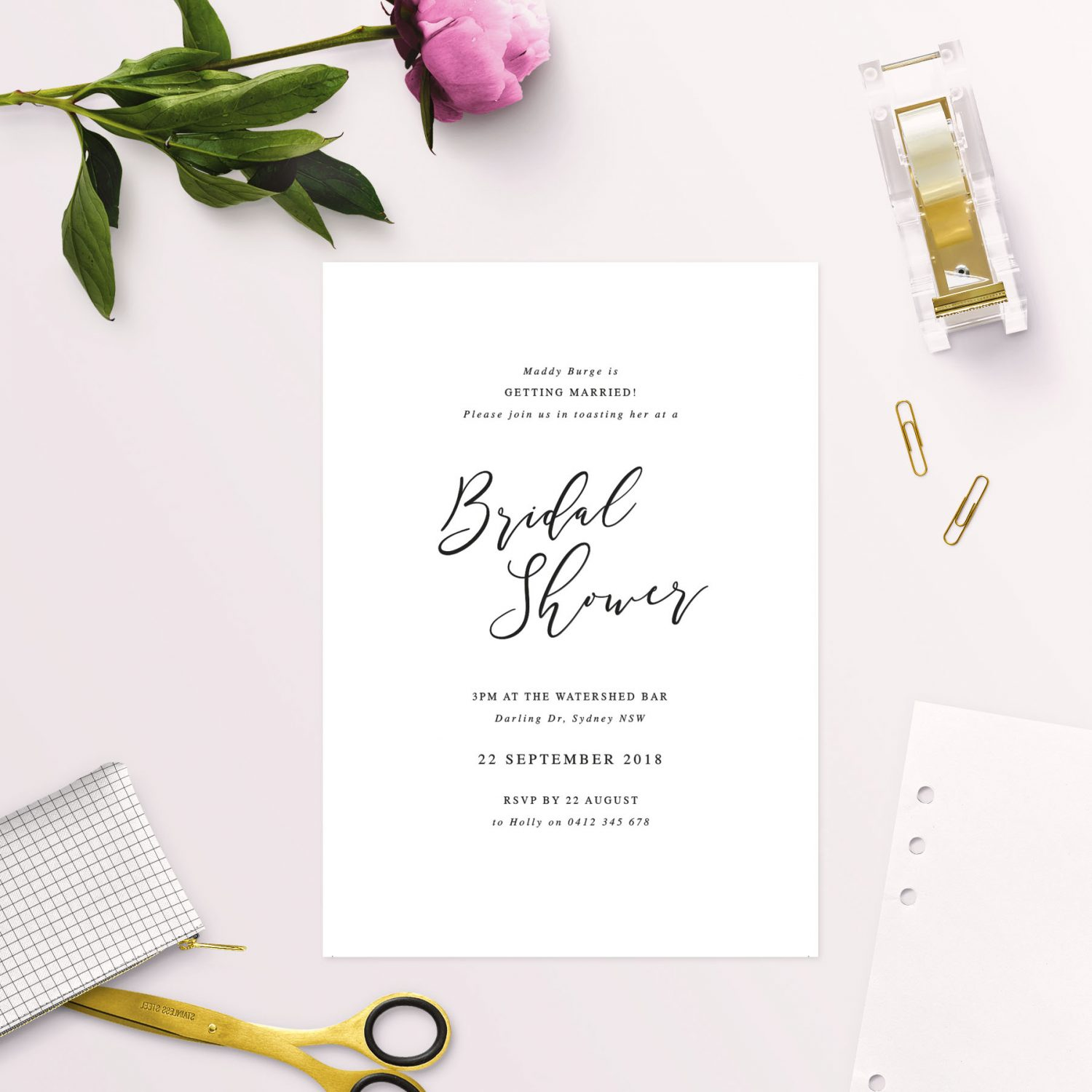 Grey marble wedding invitations blue turquoise sail and swan simple elegant calligraphy bridal shower invitations australia sydney adelaide melbourne brisbane perth sail and swan filmwisefo
