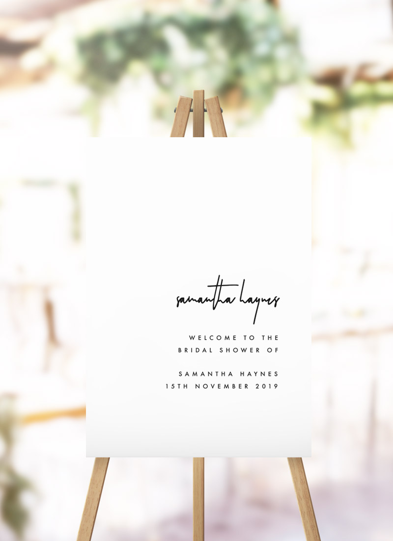 Modern Minimal Simple Bridal Shower Welcome Sign kitchen tea welcome sign australia
