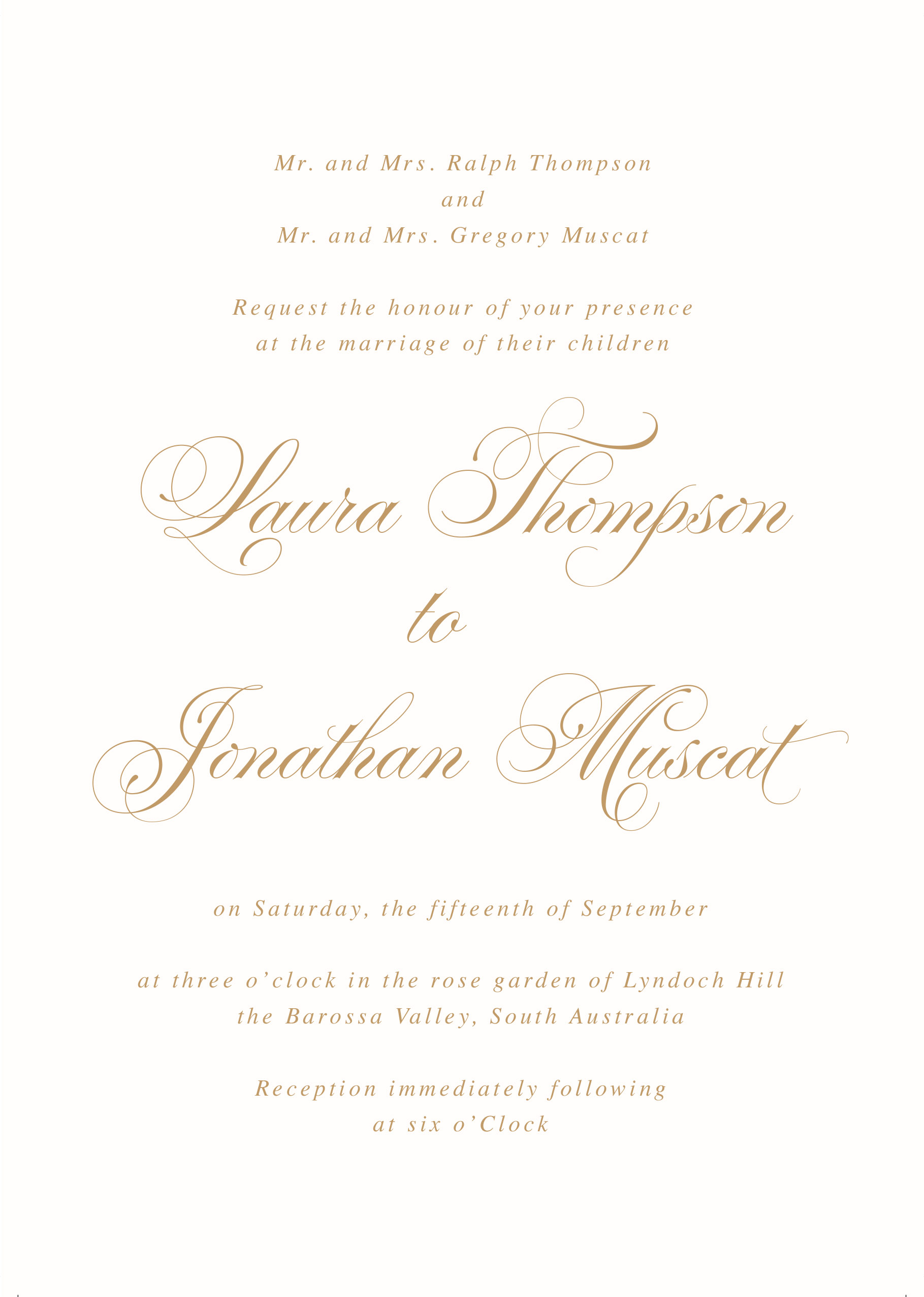 Formal Wording for Wedding Invitations - Traditional Invitation Wording