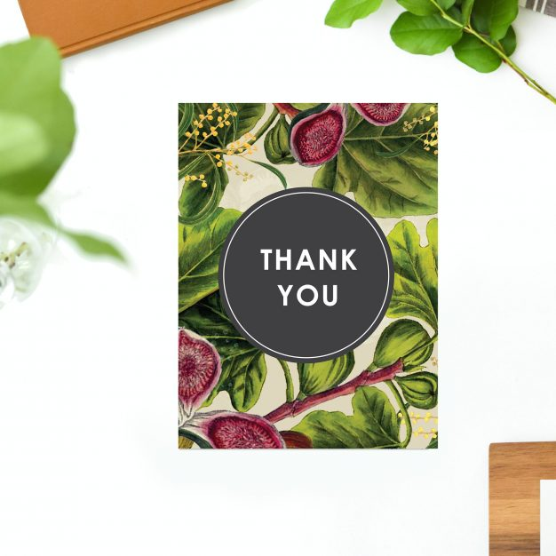 Australian Native Botanical Wedding Thank You Cards