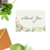 Forest Green Leaf Foliage Watercolour Wedding Thank You Postcards