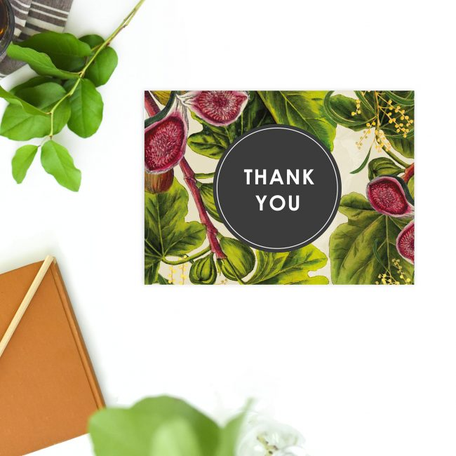 Australian Native Botanical Wedding Thank You Postcards