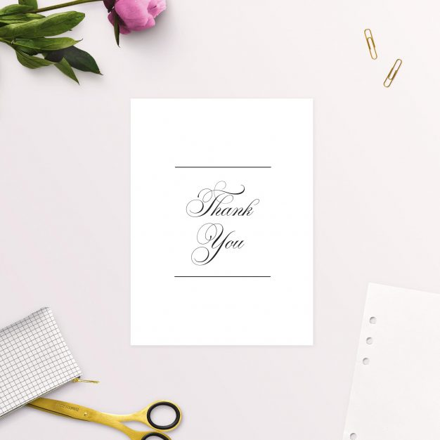 Beautiful Formal Script Calligraphy Wedding Thank You Cards White Elegant Australia Sydney Adelaide Melbourne Sail and Swan