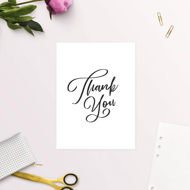 Simple Elegant Writing Thank You Cards Wedding Thank You Cards Australia Adelaide Sydney Melbourne Perth Sail and Swan