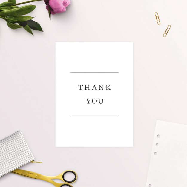 Simple Writing White Wedding Thank You Cards Beautiful Elegant Australia Adelaide Sydney Melbourne Perth Sail and Swan