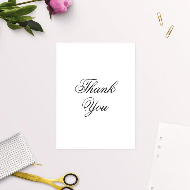Classic Elegant Cursive Script Wedding Thank You Cards Australia