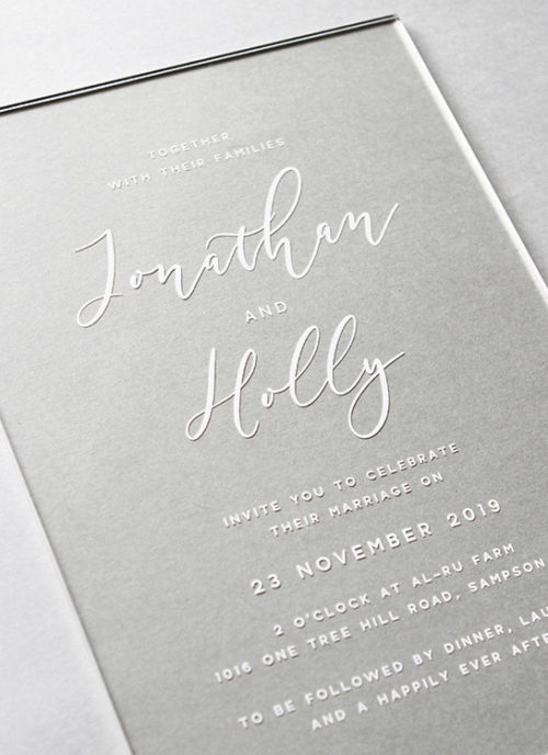 Simple Elegant Script Acrylic Invitations Australia Sydney Adelaide Perth Melbourne clear acrylic wedding invites sail and Swan