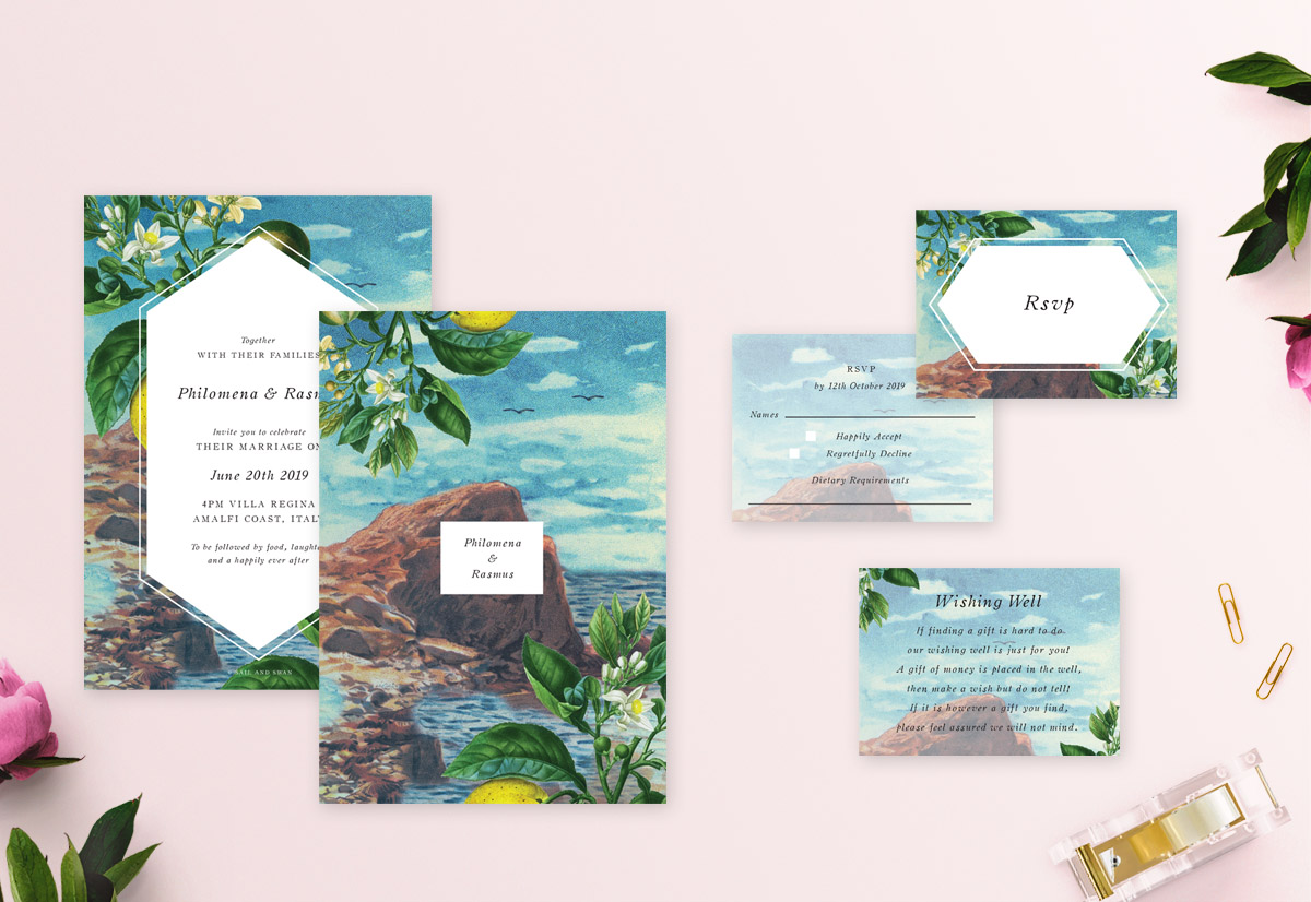 Collection Images_Amalfi Coast Wedding Invitations Australia Sail and Swan Wedding Stationery Invites