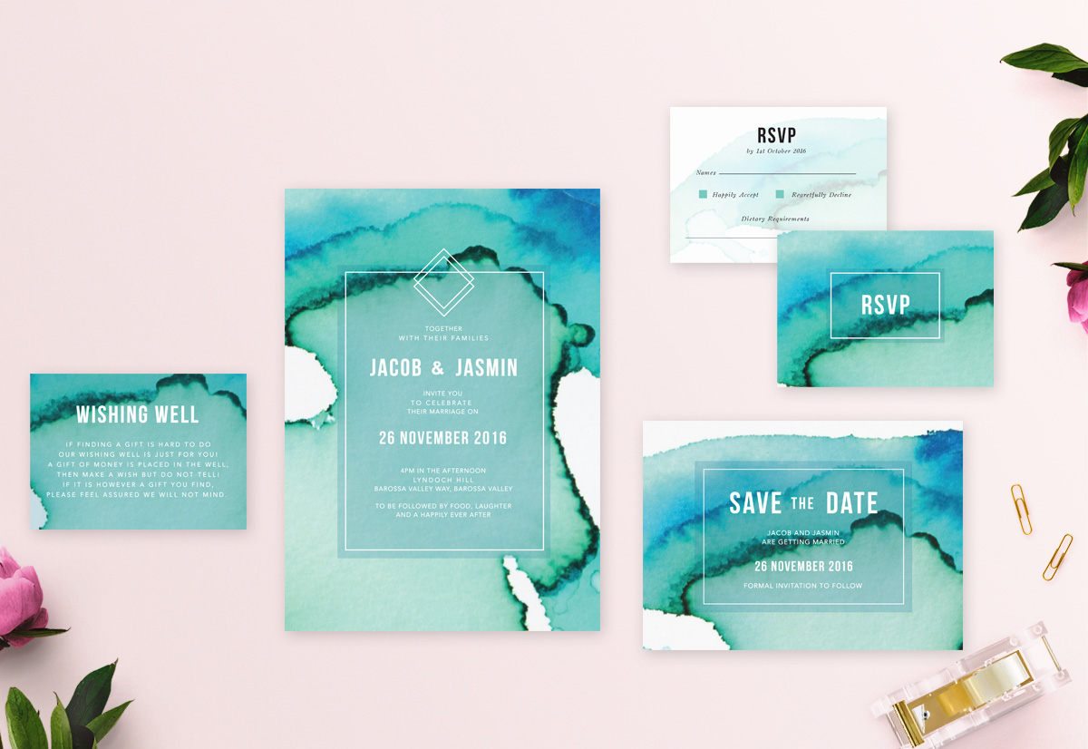 Collection Images_Aqua Wedding Invitations Australia Sail and Swan Wedding Stationery Invites