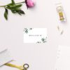 Simple Elegant Eucalyptus Wedding Name Place Cards Flat