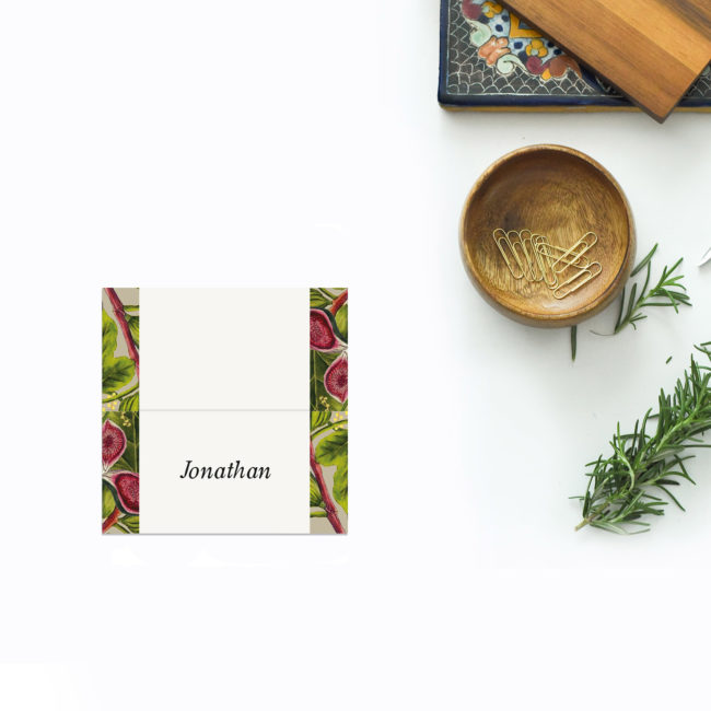 Australian Botanical Wedding Name Place Cards