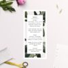 Modern Tropical Green Leaves Wedding Menus