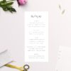 Crisp White Minimal Wedding Menus