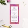 Edgy Modern Hot Pink Fuchsia Wedding Menus