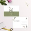 Modern Eucalyptus Wattle Native Wedding Thank You Postcards