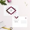 Burgundy Crimson Botanical Greenery Wedding Thank You Postcards