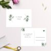Simple Elegant Eucalyptus Wedding Thank You Postcards
