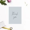 Dusty Blue Minimal Wedding Thank You Cards