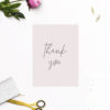 Blush Pink Minimal Wedding Thank You Cards