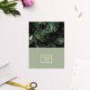 Modern Monstera Tropical Olive Green Wedding Thank You Cards