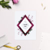 Burgundy Crimson Botanical Greenery Wedding Thank You Cards