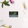 Modern Monstera Tropical Grey Blue Wedding Name Place Cards Flat