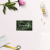Modern Tropical Jungle Monstera Leaves Wedding Name Place Cards Flat