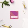 Edgy Modern Hot Pink Fuchsia Wedding Name Place Cards Folded