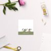 Modern Eucalyptus Wattle Native Wedding Name Place Cards Folded