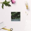 Modern Monstera Tropical Grey Blue Wedding Name Place Cards Folded