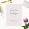 Blush Pink Minimal Modern Chic Wedding Invitations
