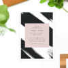 Edgy Modern Black Blush Brushed Wedding Invitations