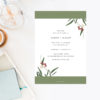 Modern Eucalyptus Wattle Native Wedding Invitations
