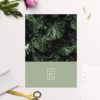 Modern Monstera Tropical Olive Green Wedding Invitations
