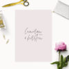Blush Pink Minimal Modern Chic Invitations
