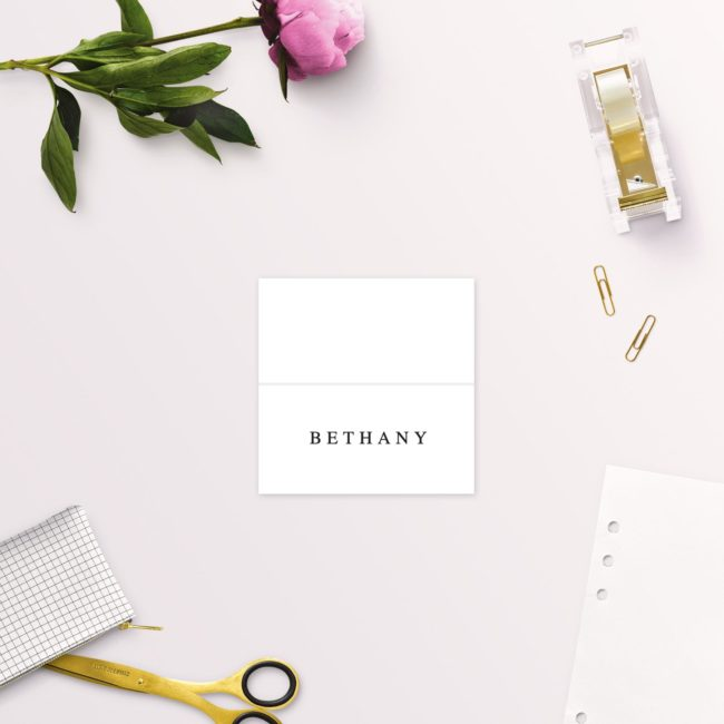 Simple Elegant Writing Wedding Name Place Cards